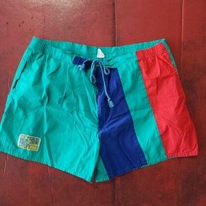 Vintage 80s Mighty Mac Swim Trunks XL